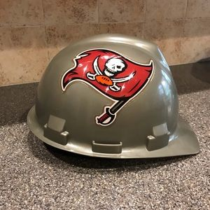 Tampa Bay Buccaneer hard hat.  ITS THE REAL THING